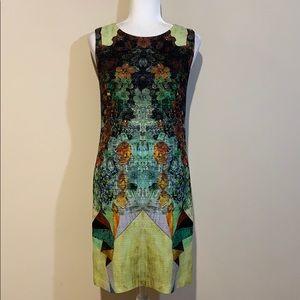 Nicole Miller Artelier Woven Wool Shift Dress